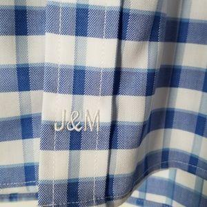 Johnston & Murphy Shirts - NWOT John & Murphy blue white plaid dress shirt